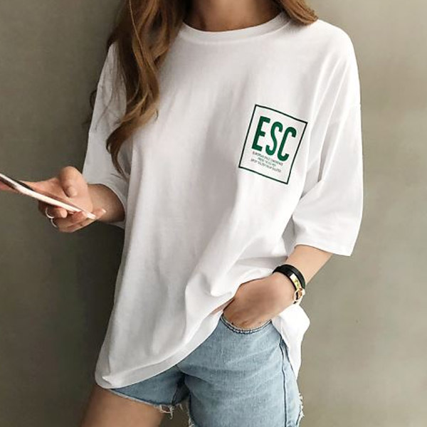 ESC文字棉上衣