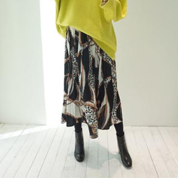 希臘豹紋浪漫長裙