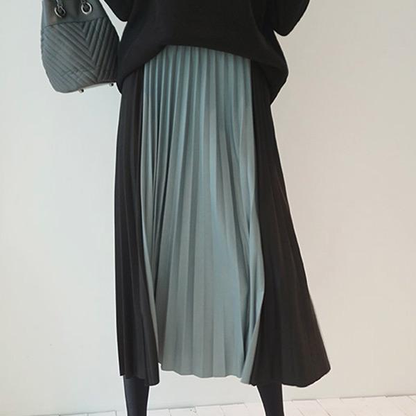 前衛雙色相撞長裙