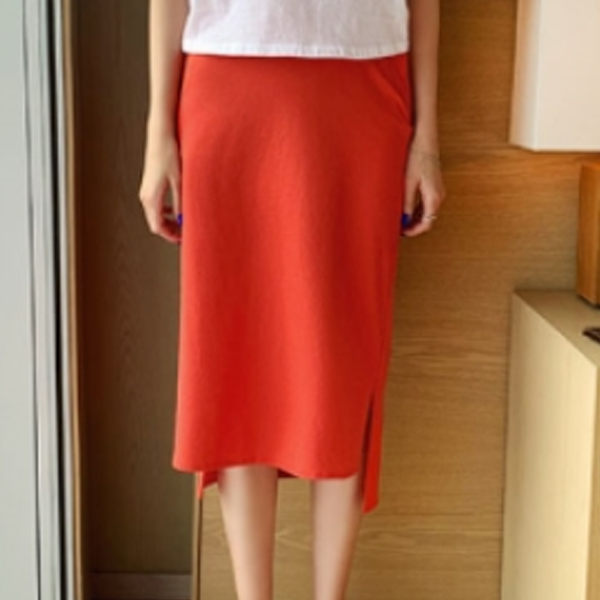 休閒縮腰百搭窄裙