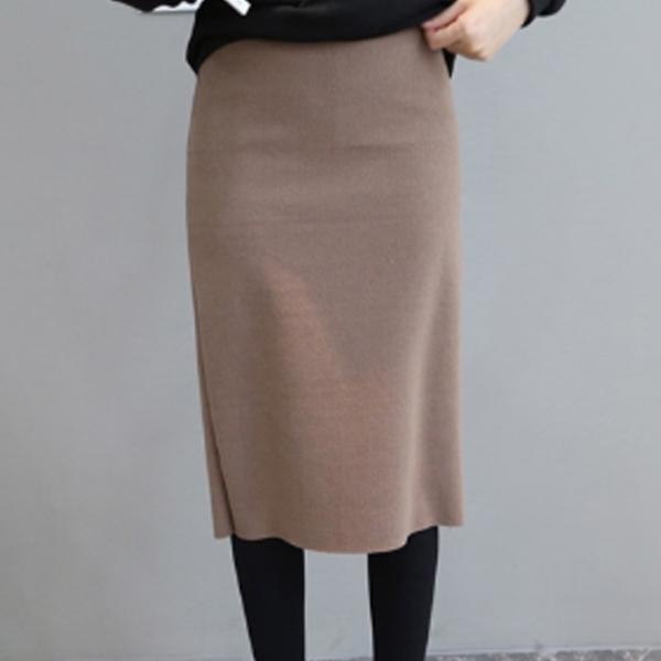 典雅氣質顯瘦針織裙