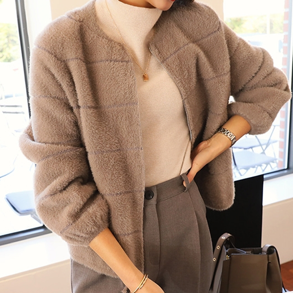 貴氣毛毛保暖外套