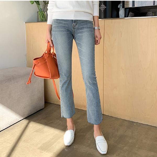 超美刷色顯瘦牛仔褲