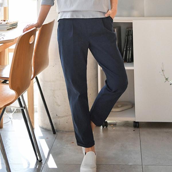 原色時尚休閒褲