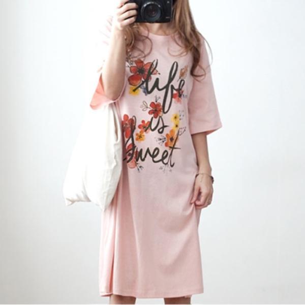 休閒夏氛印花洋裝