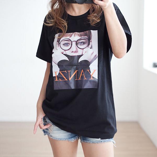眼鏡女孩短袖上衣