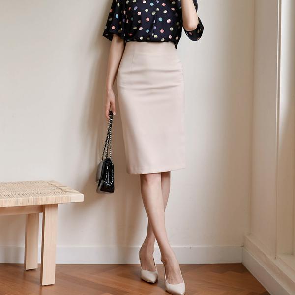 經典OL素面短裙