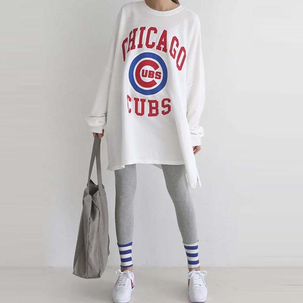 休閒芝加哥兩件式褲套裝,正韓,正韓商品,中大尺碼,休閒,上衣