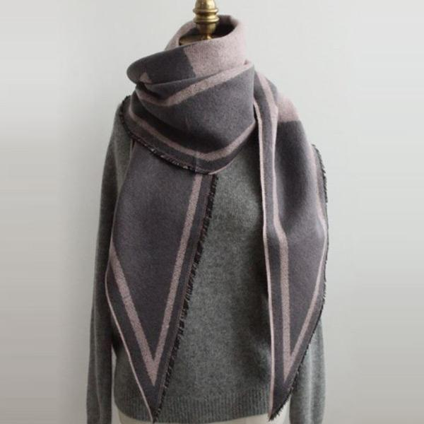 簡約幾何保暖圍巾,正韓,正韓商品,經典,百搭,圍巾
