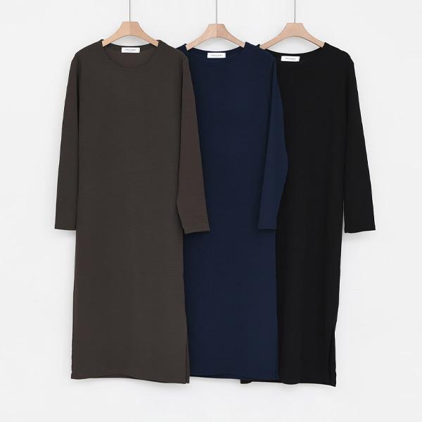 典雅側開衩洋裝,正韓,正韓商品,洋裝,正式洋裝,連身裙