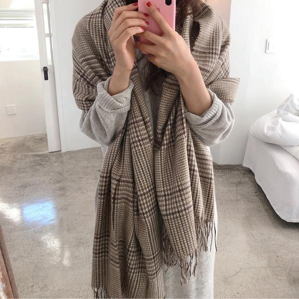 百搭時尚條紋圍巾