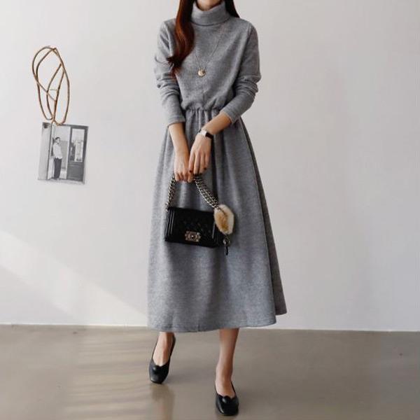 端雅氣質高領洋裝