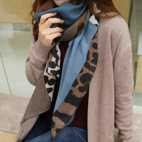 豹紋時尚百搭圍巾