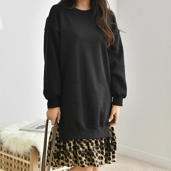 華麗豹紋時尚洋裝