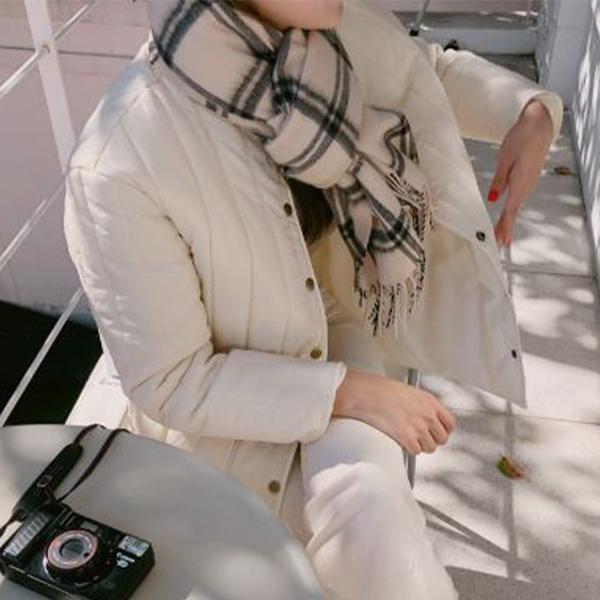 暖心冬季格紋圍巾