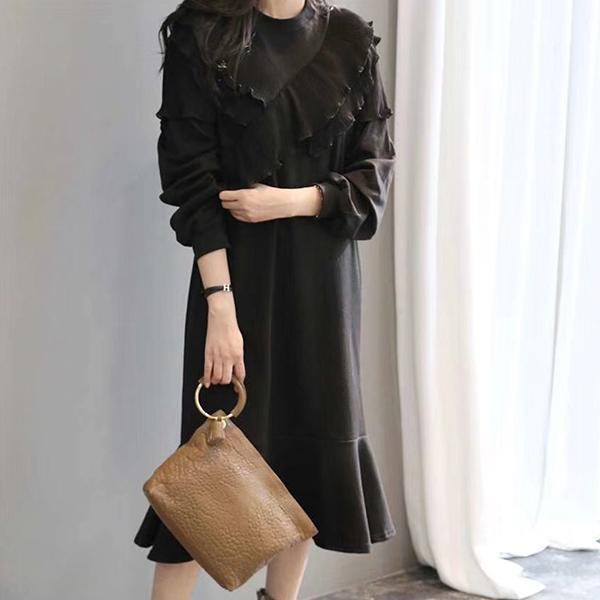 典雅簡約拼接洋裝,正韓,正韓商品,氣質,優雅,時尚