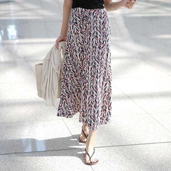 夏日彩繪印花長裙
