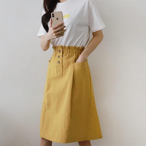 輕鬆小日子彈性長裙