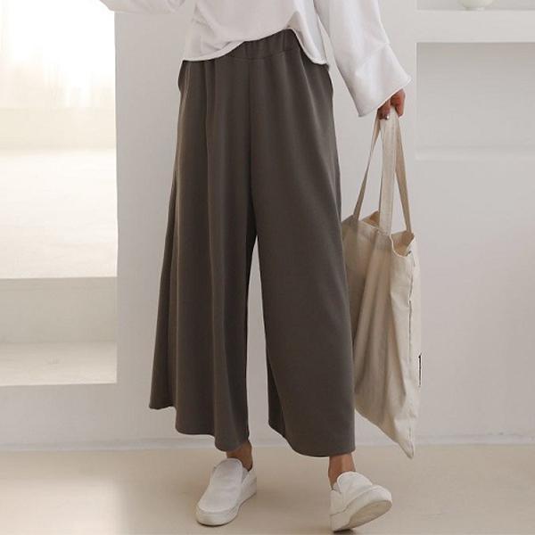 寬鬆百搭純色長褲