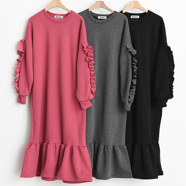 純色甜美魚尾洋裝,正韓,正韓商品,氣質,優雅,百搭