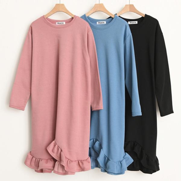 原色時尚魚尾洋裝,正韓,正韓商品,保暖,休閒,時尚