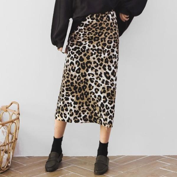 質感穿搭豹紋長裙