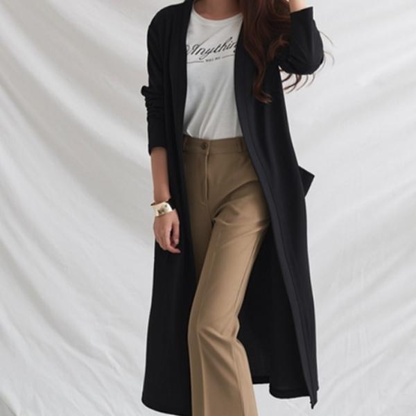 低調時尚長版外套