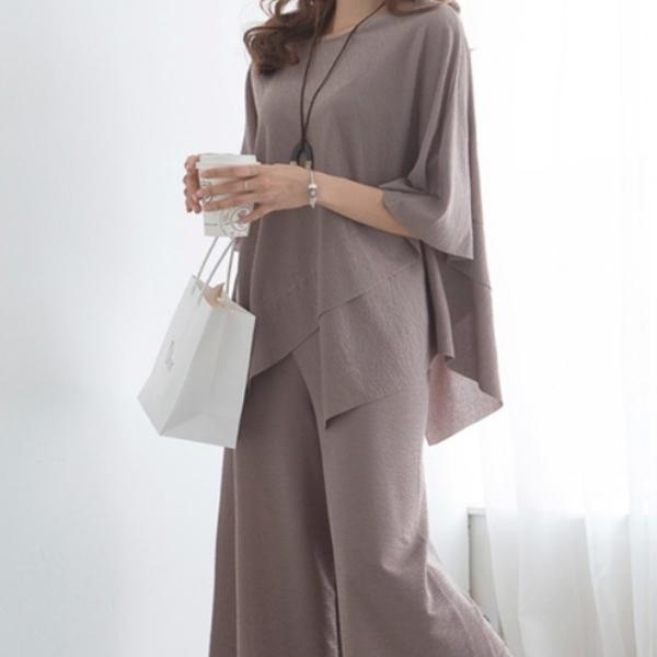 氣質舒適寬褲套裝,正韓,正韓商品,氣質,優雅,舒適