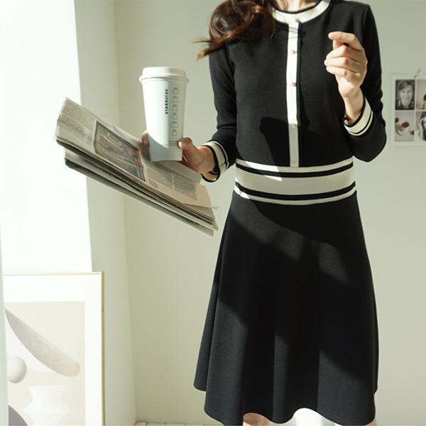 貴氣悠然長裙洋裝,正韓,正韓商品,正式,修身,氣質