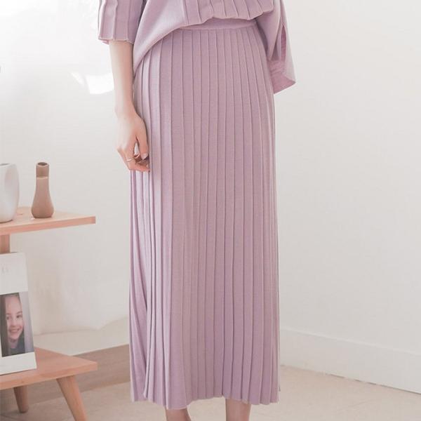 優雅氣質條紋針織長裙,正韓,正韓商品,休閒,寬鬆,純色