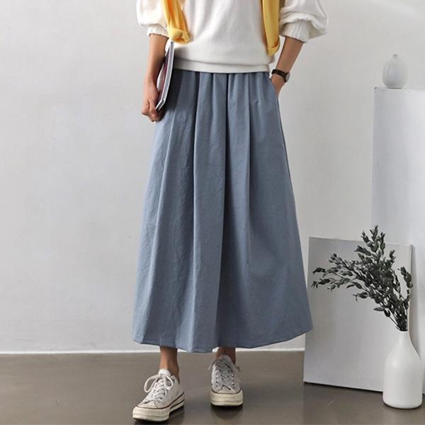 棉麻氣質美人春夏寬裙