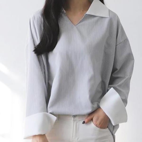百搭簡約條紋襯衫