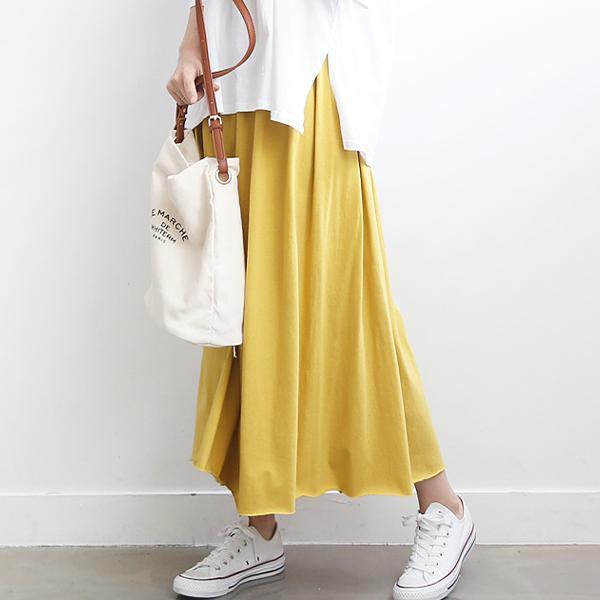 韓風主流素面長裙