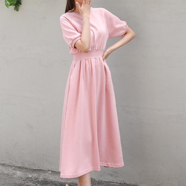 甜柔輕舞縮腰洋裝,正韓,正韓商品,春夏,甜柔,輕舞