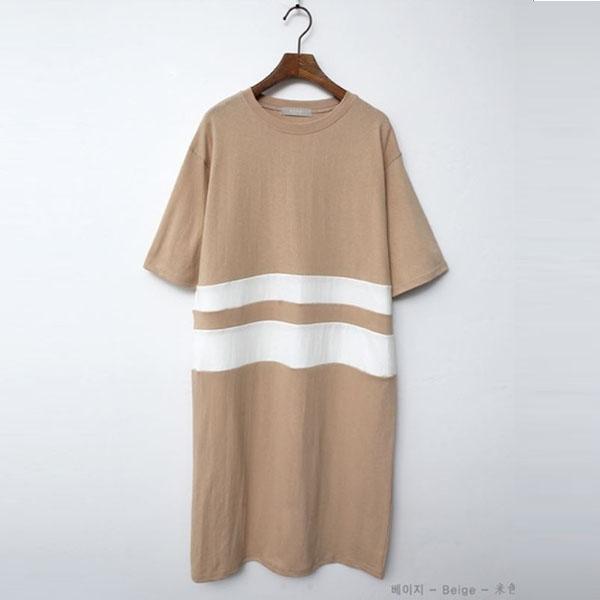 慵懶自在白條紋洋裝,正韓,正韓商品,慵懶,自在,白條紋