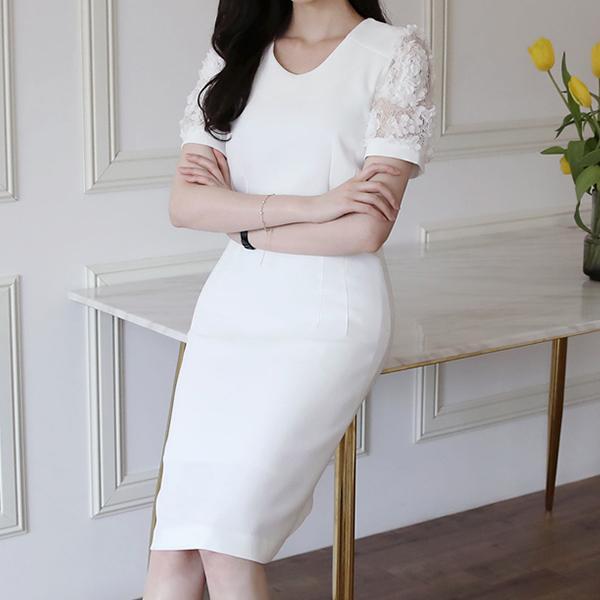蕾絲拼接性感洋裝,正韓,正韓商品,蕾絲,拼接,性感洋裝