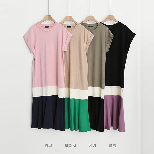 經典配色休閒洋裝,正韓,正韓商品,經典,配色,休閒洋裝