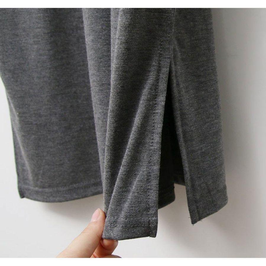 V領短袖氣質洋裝
