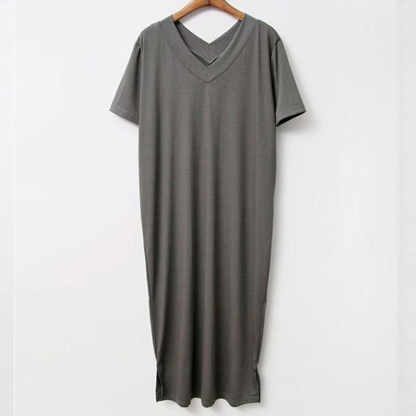 V領短袖氣質洋裝,正韓,正韓商品,V領,短袖,氣質洋裝