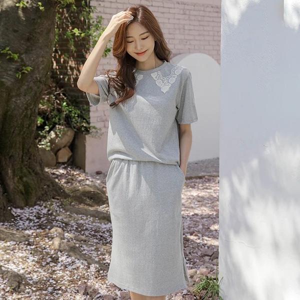 氣質純色長裙套裝