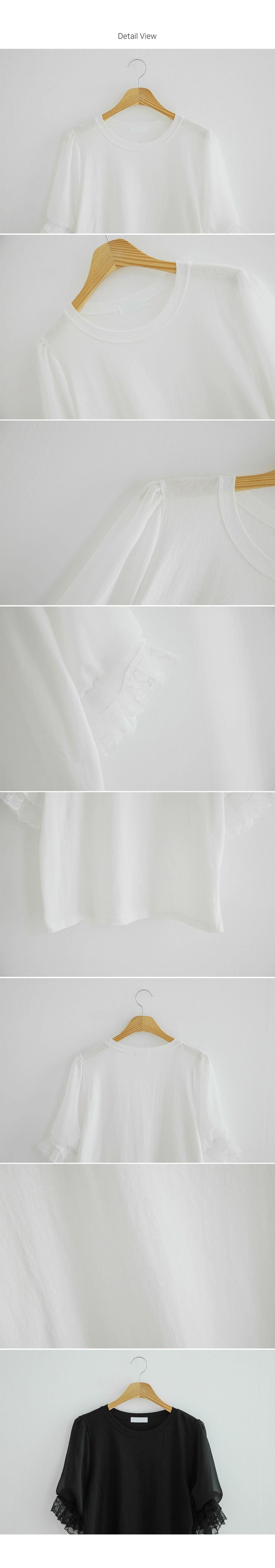 時尚蕾絲袖口上衣