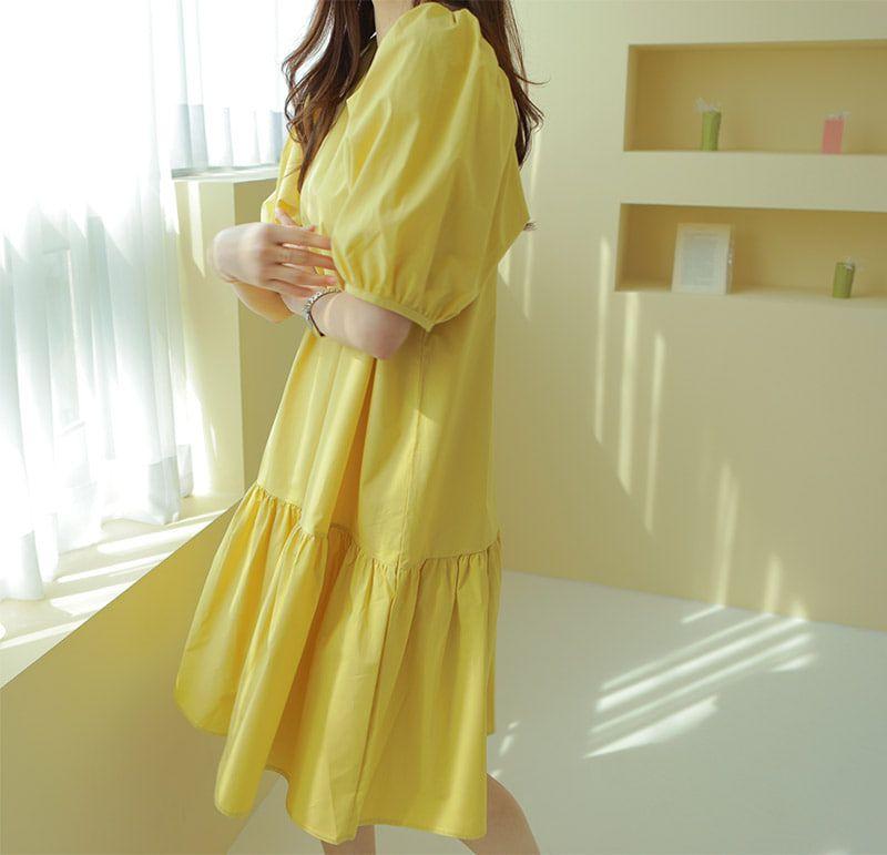 經典純色休閒洋裝