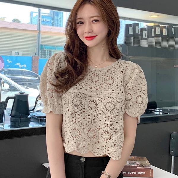 時尚簍空雕花上衣,正韓,正韓商品,,minsshop,D1-3497449