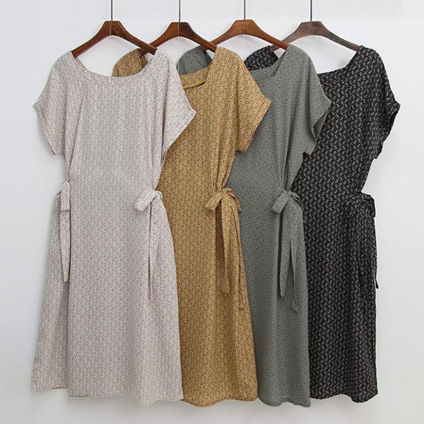 時尚淡雅方領洋裝,正韓,正韓商品,,andstyle,D1-3608741