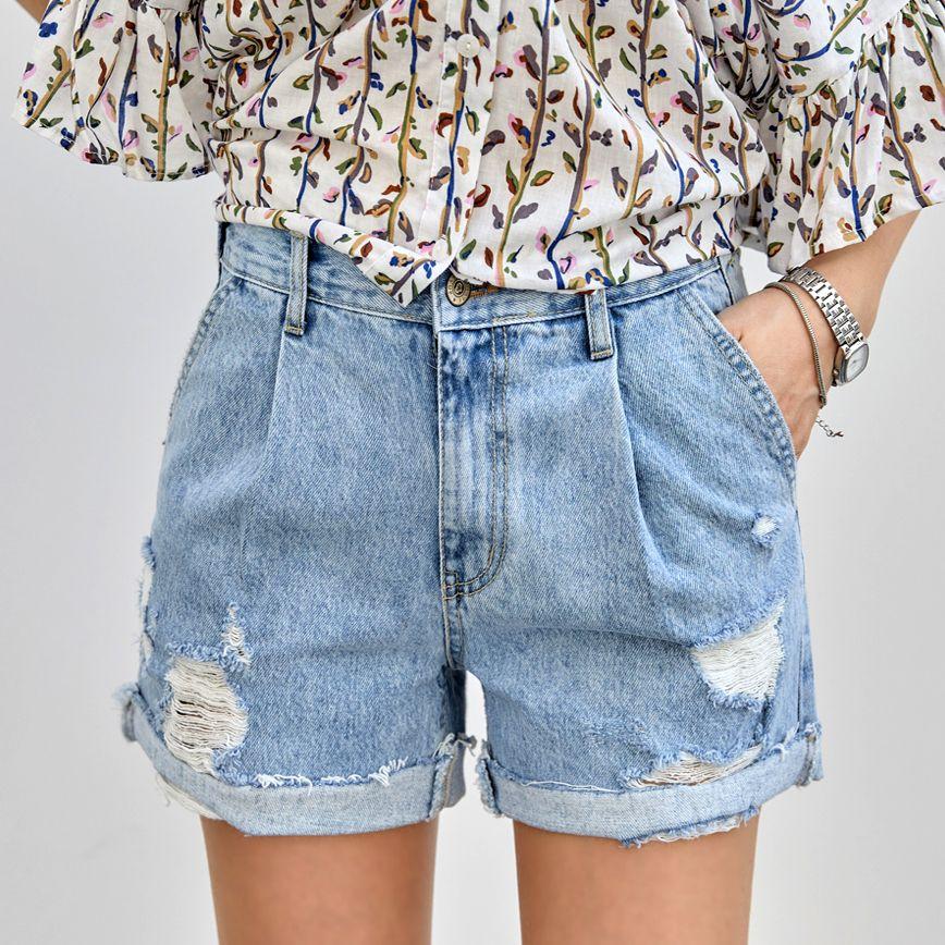 率性造型牛仔短褲