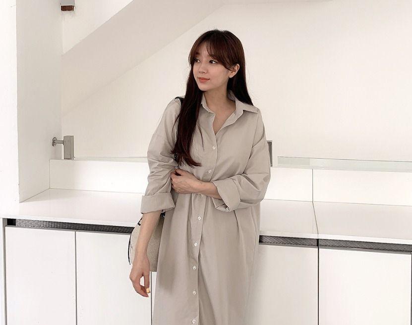 寬鬆版型襯衫洋裝