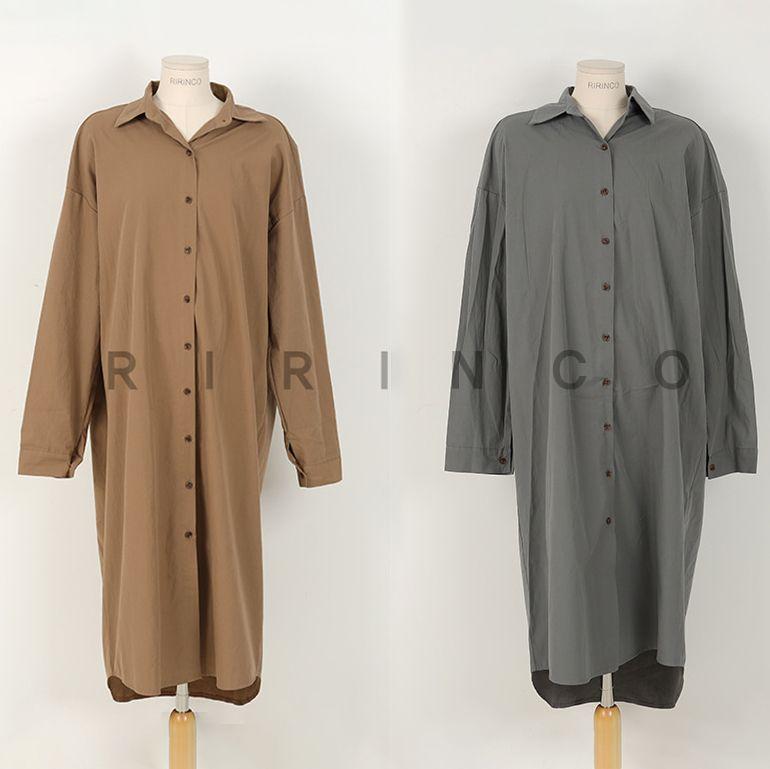 寬鬆版型襯衫洋裝,正韓,正韓商品,百搭,時尚,襯衫