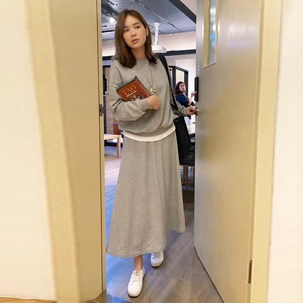 【陳沂著用款】純色休閒套裝裙
