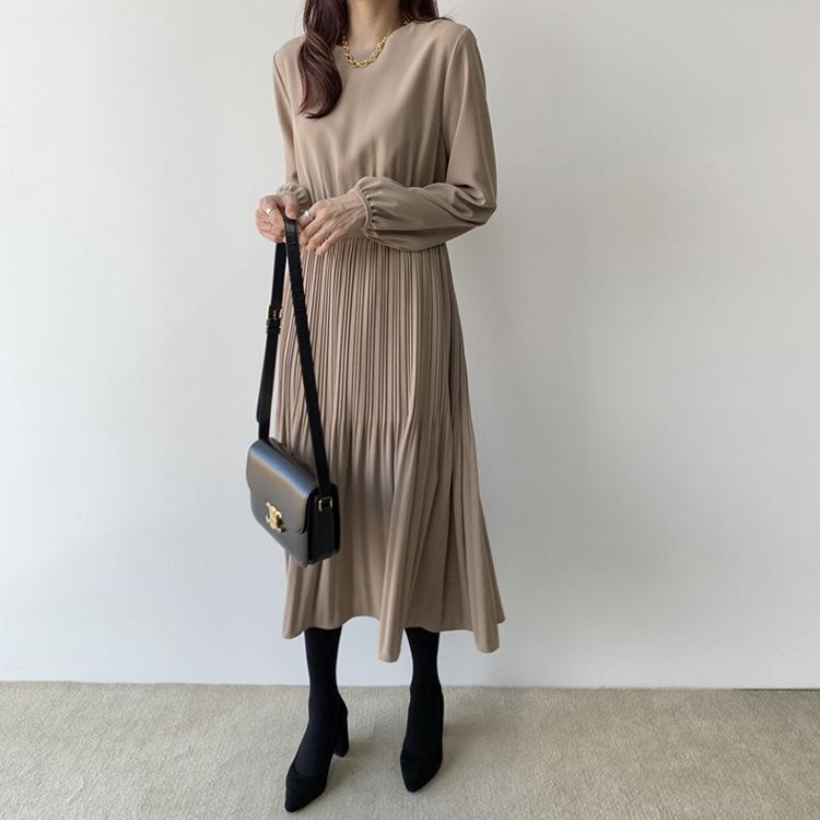 【楊晨熙著用款】收腰褶皺洋裝