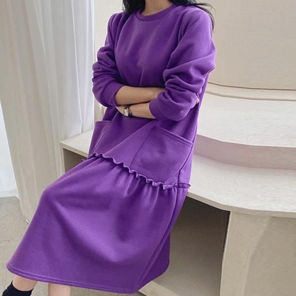 寬鬆魚尾長洋裝,正韓,正韓商品,百搭,時尚,秋天
